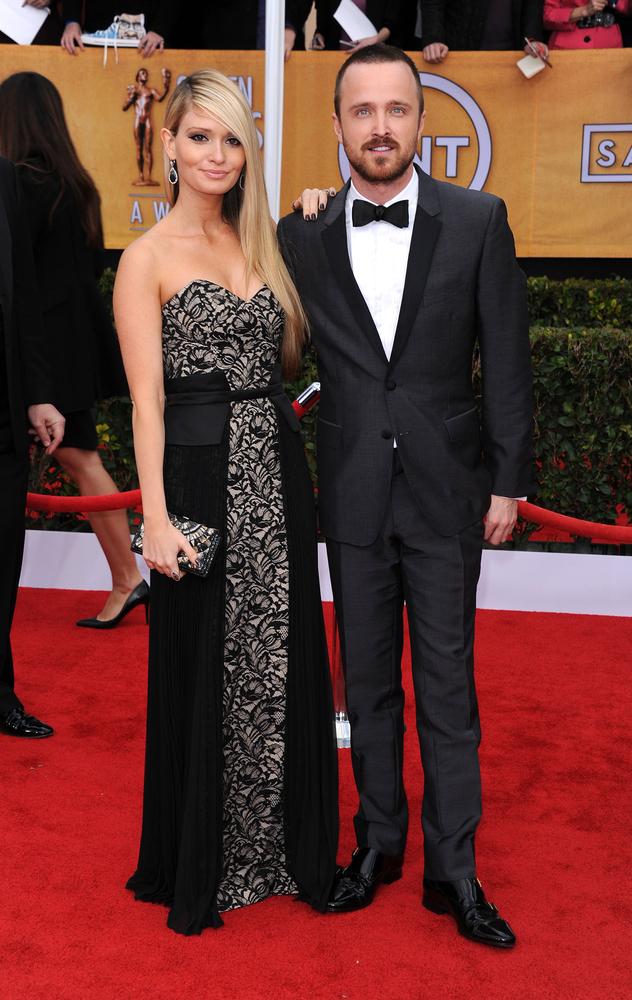 Aaron Paul and his wife, Lauren Parsekian