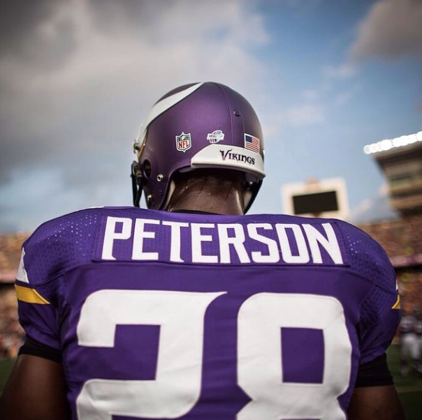 Adrian Peterson jersey uniform football All Day Foundation