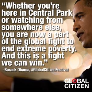 Global Citizen Festival Obama