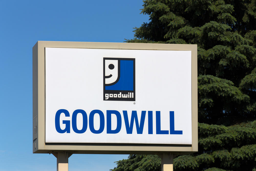 A photo of a Goodwill sign.