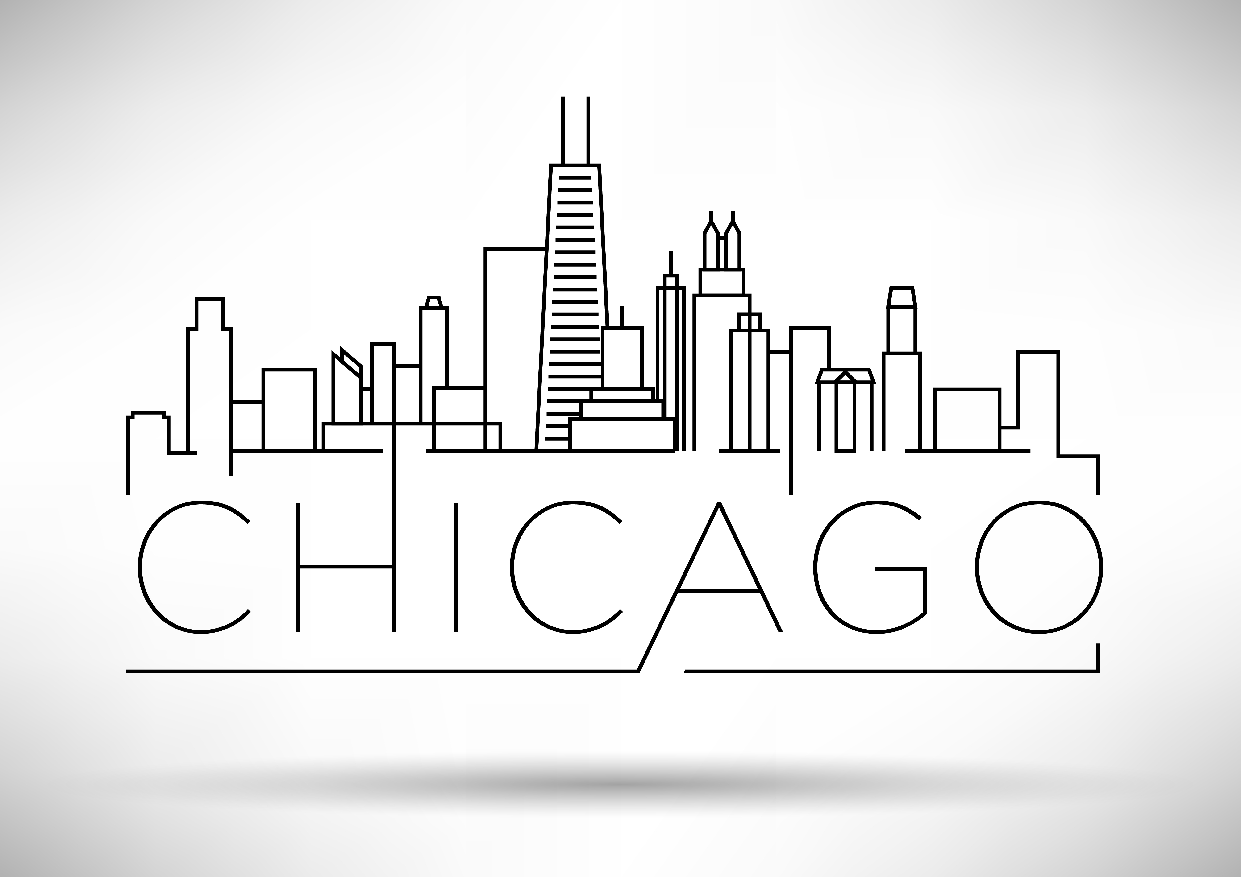 A drawing of the city of Chicago.