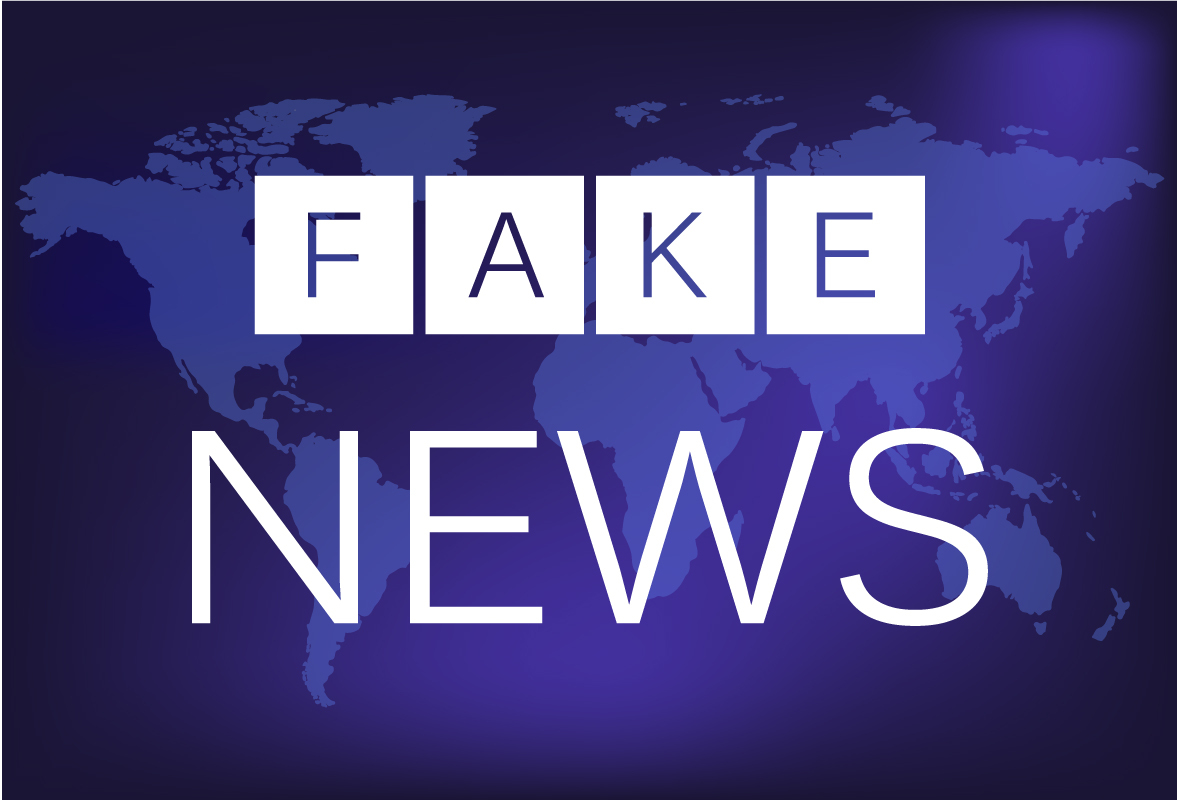 "An image that reads ""fake news."""