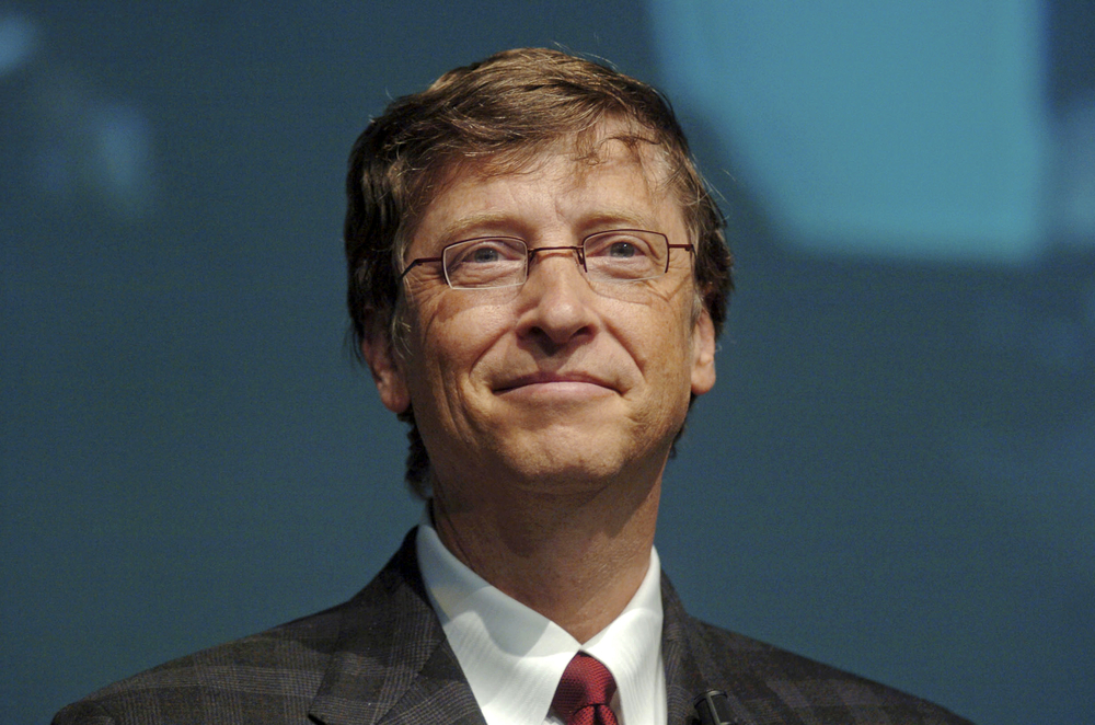 A photo of Bill Gates, the world's richest man.