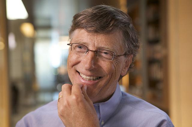 A photo of billionaire Bill Gates.