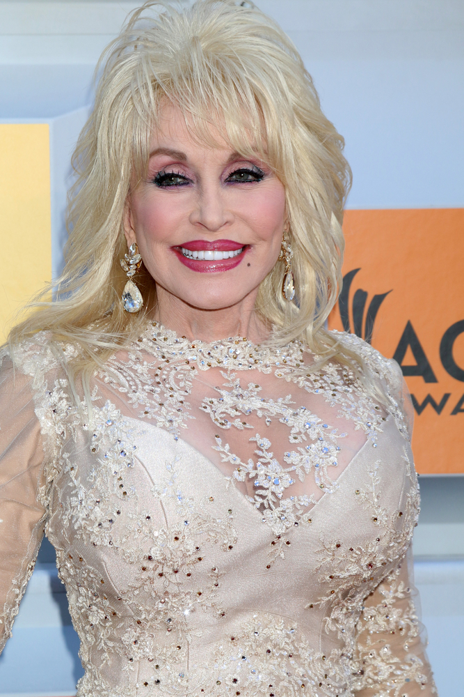 A photo of country music star Dolly Parton.