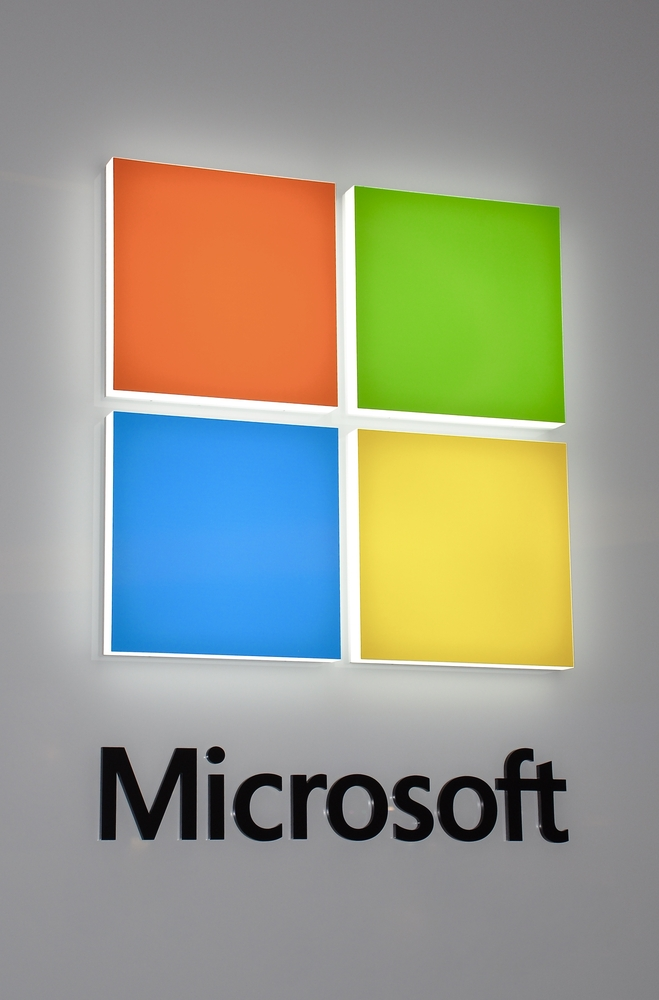 Microsoft's logo.