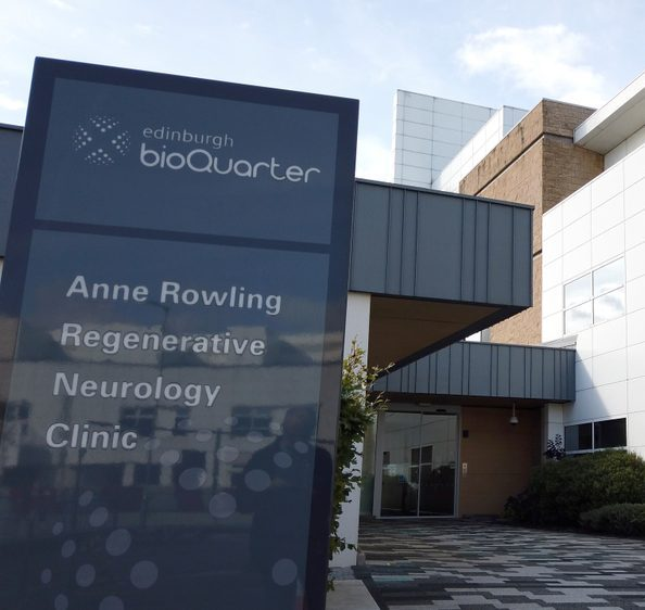 A photo of the Anne Rowling Regenerative Neurology Clinic in Edinburgh. The clinic was founded by Anne Rowling's daughter, J.K. Rowling.