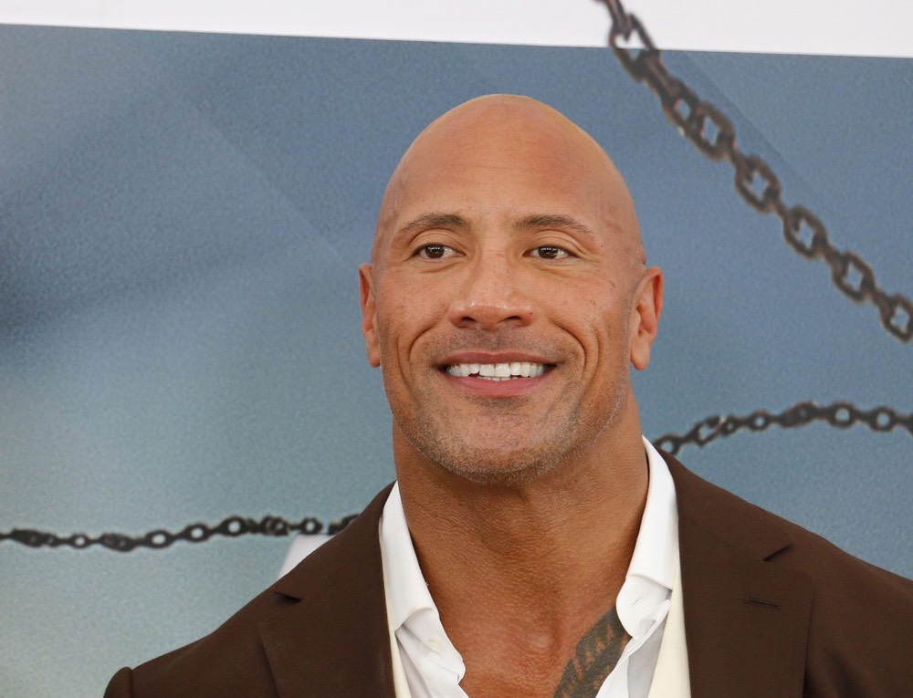 Dwayne Johnson Donates water
