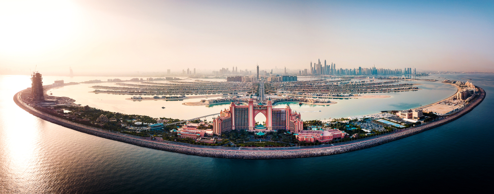 The world's largest canvas painting was created at the Palm, Dubai, by Sacha Jafri
