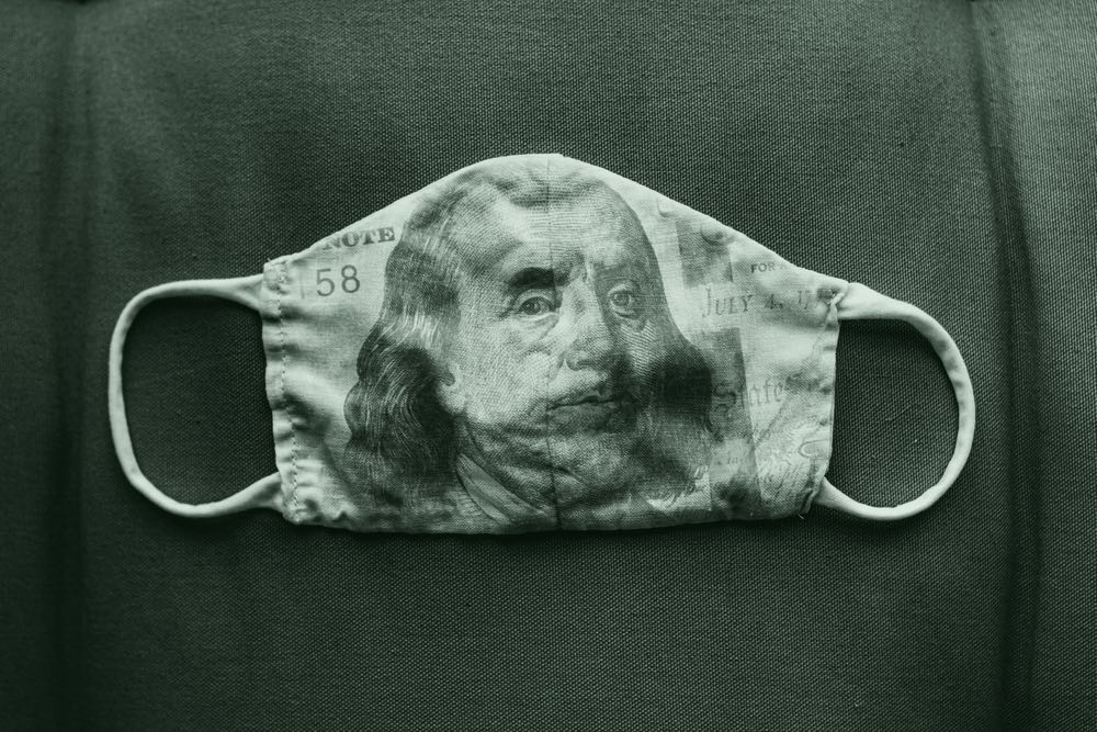 Covid money mask
