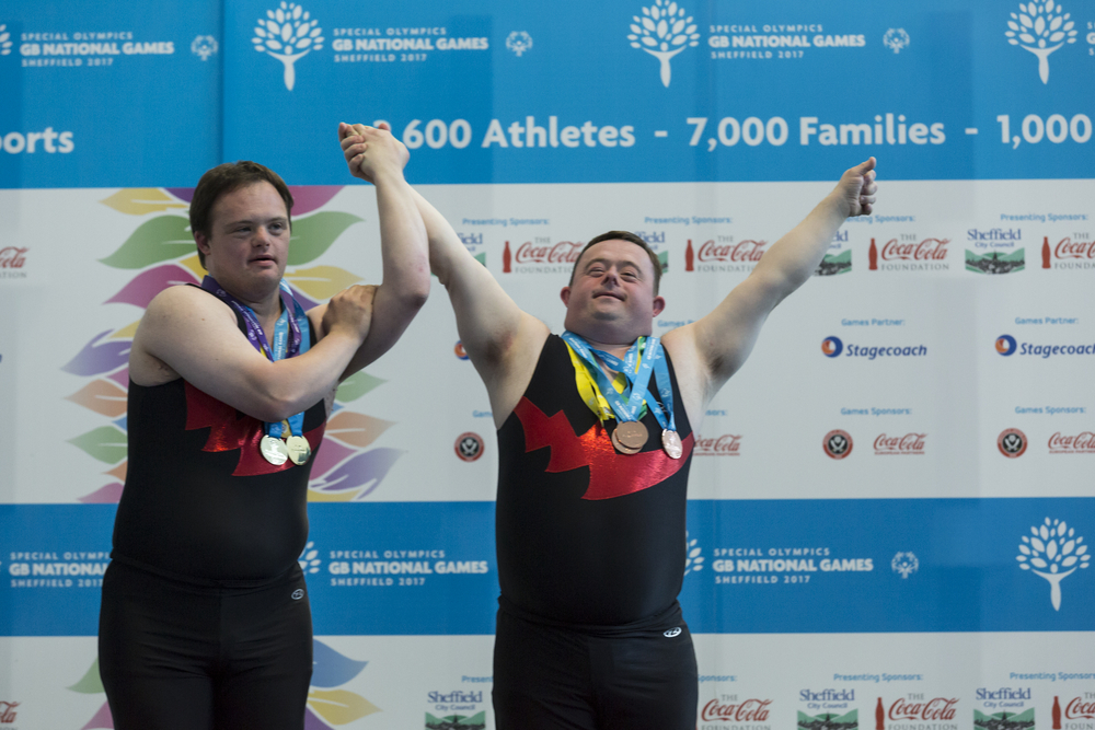 Athletes participate in the UK Special Olympics in 2017